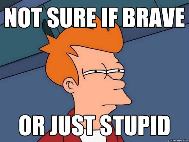 Brave or Stupid?